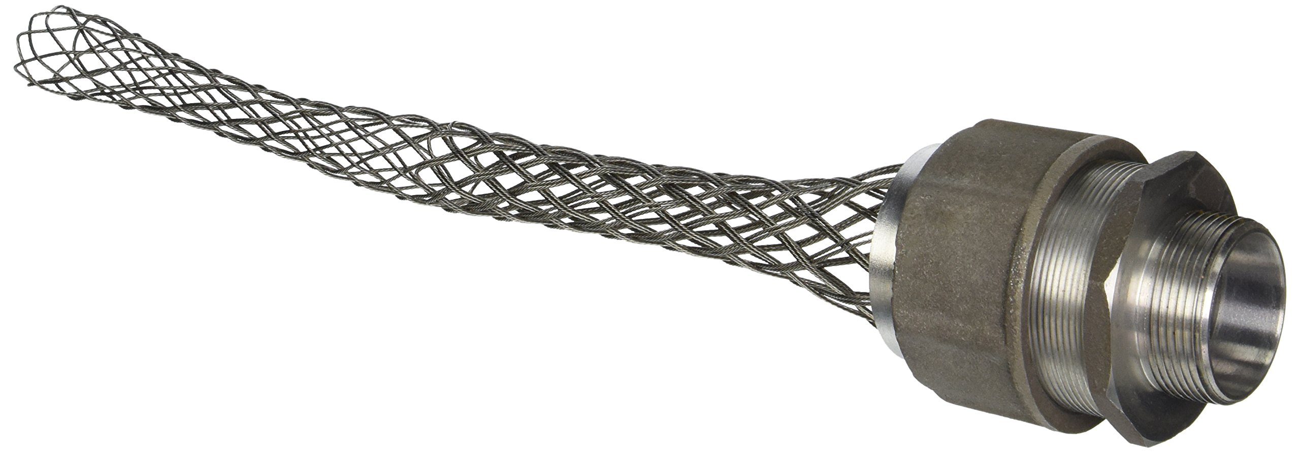 Hubbell 074011254 Deluxe Cord Grip, Straight Male, 1 1/2'' with Mesh, 10.4''-10.5'' Cable