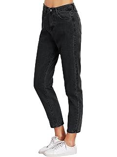 4555af4308000 SweatyRocks Women s Juniors Boyfriend Jean High Waist Capri Cropped Denim  Jeans