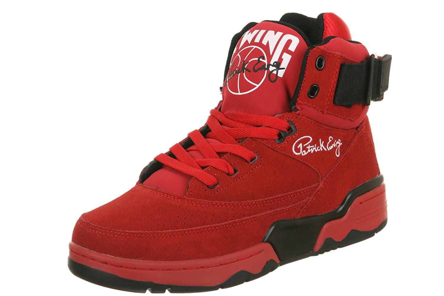 Amazon.com | Patric Ewing Athletics Ewing 33 Hi Red Black Shoe (1VB90013-601) | Fashion Sneakers