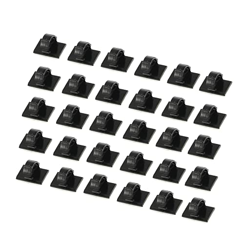 50 small aluminium self-adhesive cable clips - 50 SMALL open arm ...