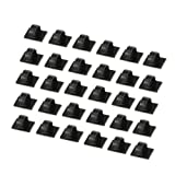 Proster 30 Pcs Car Cable Ties Self-adhesive Cable Clips Plastic Rectangle Car Cable Holder Wire Clip Cable Tidy Quickly Tie and Untie the Cord