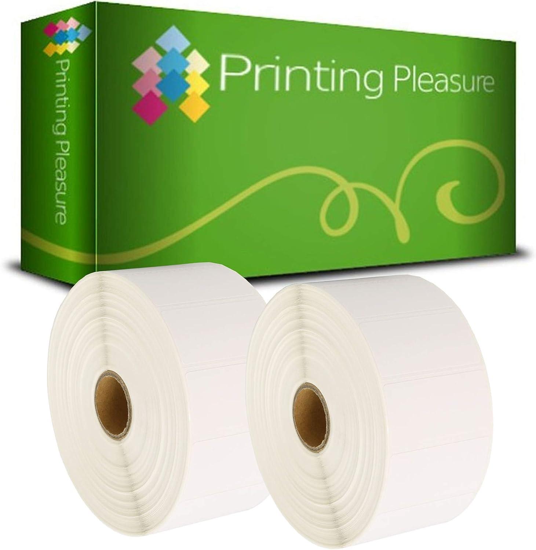 Printing Pleasure Zebra 100mm x 150mm Etiquetas para Zebra Type Impresoras 500 Etiquetas por Rollo T/érmica Directa