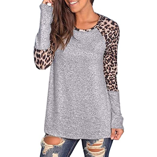 Amazon.com  Button Down Shirts for Women Graphic Tees Women Leopard ... 5c3872ad81