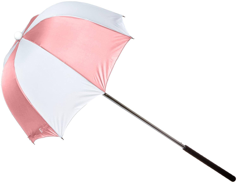 Drizzlestick Drape Gold Bag Umbrella Club Rain Cover Pink and White New