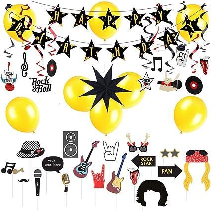 Amazon Easy Joy Rock And Roll Birthday Theme Music Party