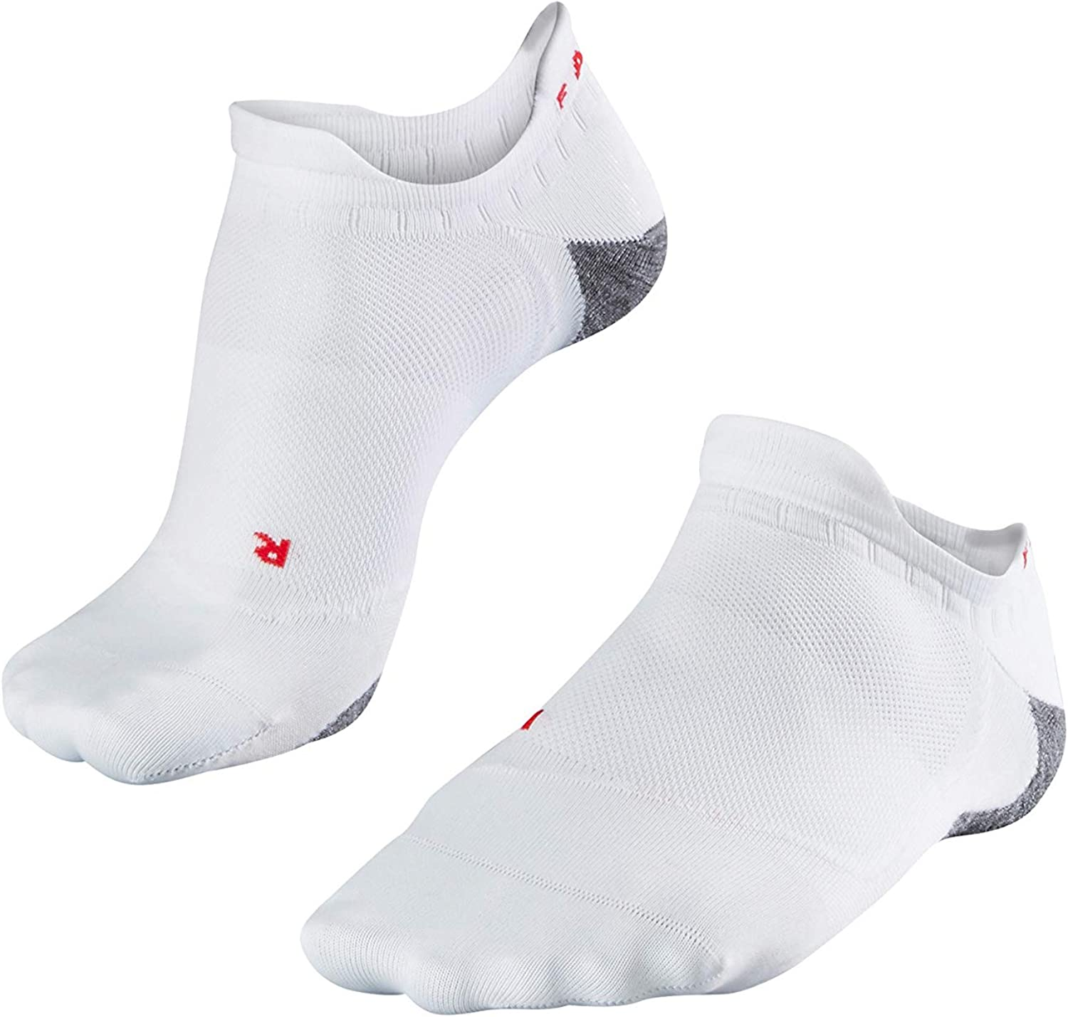 Anti Blister Cushioned No Show US sizes 6.5 to 10.5 In Black or White 1 Pair FALKE Womens RU5 Invisible Running Socks