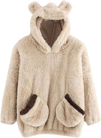 Womens Hoodie Sweatshirt SFE Stripe Style Autumn Winter Warm Hooded Pullover Tops Blouse