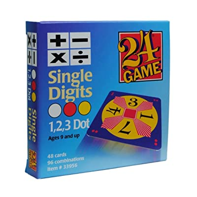 24 Game: 48 Card Deck, Single Digit Cards Math Game: Toys & Games