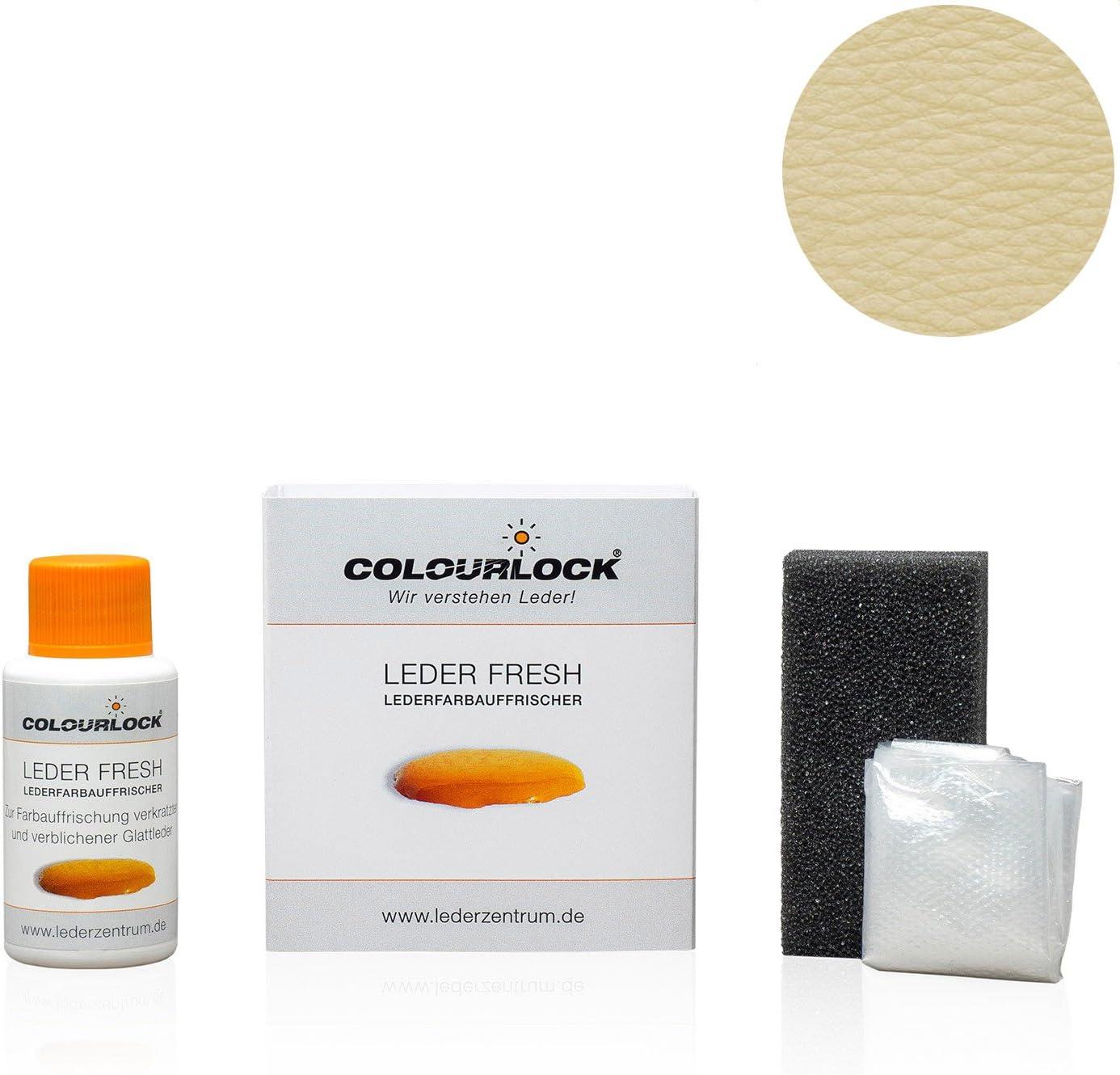 Colourlock Leder Fresh Tönung Mini 30 Ml F Standard Farbe F012 Hellbeige Lederfarbe Farbauffrischung Beseitigt Schrammen Ausbleichungen Und Abnutzung An Leder Und Kunstleder Auto