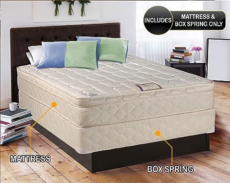 dream inner spring eurotop pillow top queen size mattress and box spring set