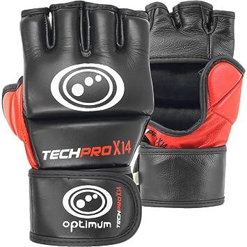 Echtes Rex-Leder MMA Grappling-Handschuhe UFC Gel-Tech Muay Thai G