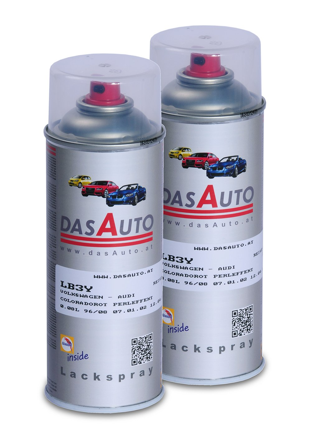 2 x dasauto Vernis Spray glasurit série 55 Inside 400 ml