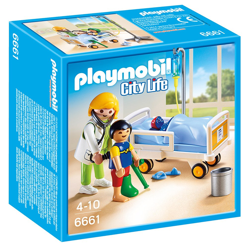 playmobil 6661 city life children 39 s hospital doctor with child. Black Bedroom Furniture Sets. Home Design Ideas