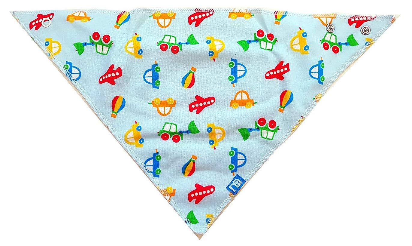 Mothercare Dribbler Bibs 2 Pack Bandana Bibs 0-6 Months Pack of 2 Soft Jersey Fabric Blue Boys Bibs from Birth Boys Planes Cars Bibs