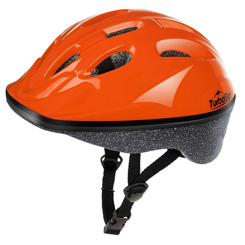 TurboSke Kid's Helmet, Children's Bike Helmet (Bright Orange)
