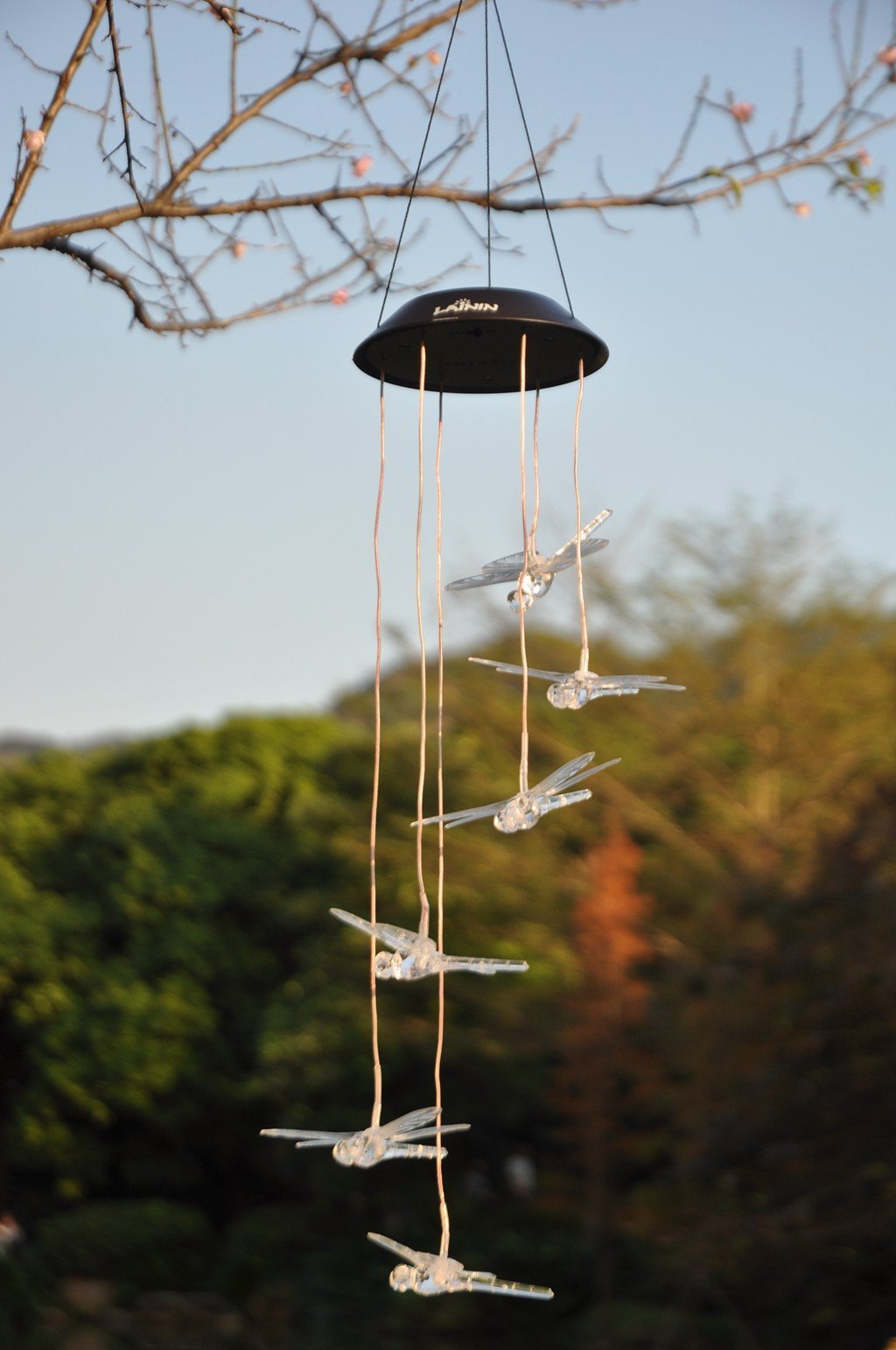 Color-Changing LED Solar Dragonfly Mobile by Plow & Hearth