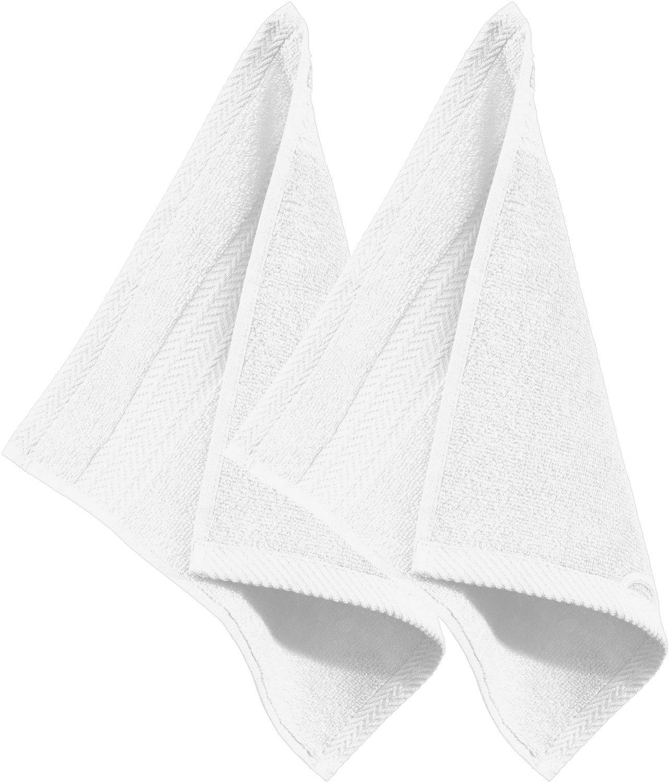 Erwin Müller 2-pk face cloths, Friedrichshafen white size 30x30 cm