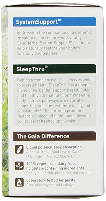 amazoncom gaia herbs sleep thru liquid 60 count health u0026 personal care