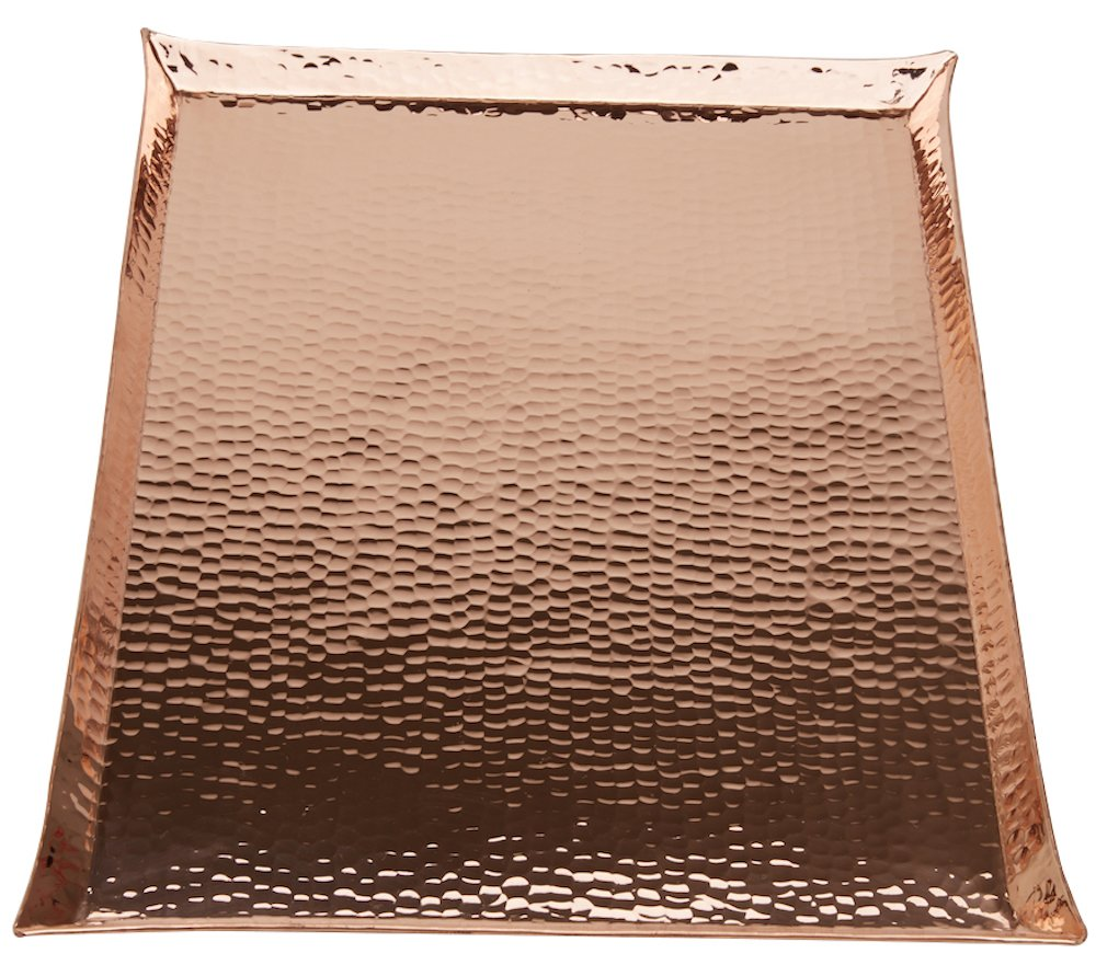 Copperbull HEAVIEST THICKEST Hammered Copper Premium Tray,17x11.5 by CopperBull B013HB39XI