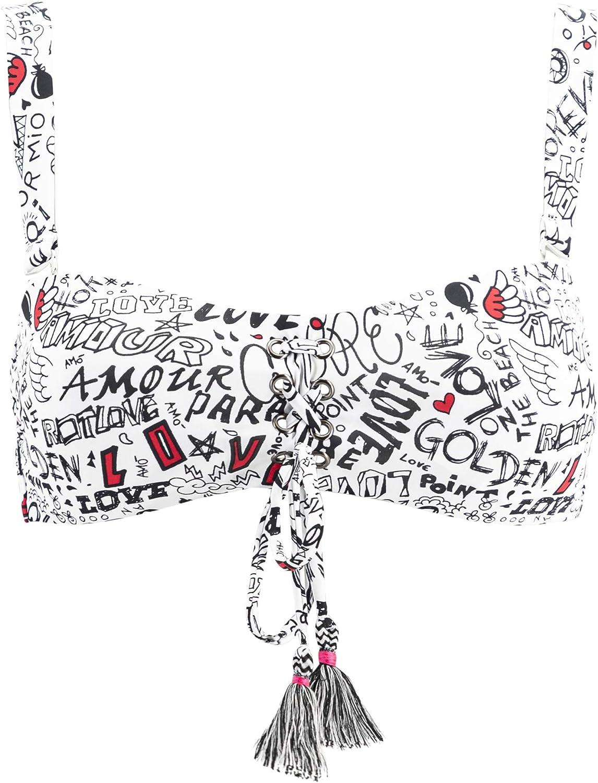 Graffiti Goldenpoint Costume da Bagno Donna Reggiseno Bikini a Fascia