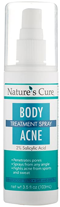 Nature's Cure Body Acne Treatment Spray post acne treatment