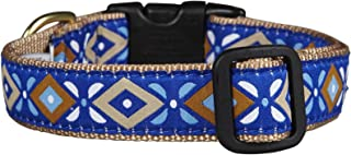 product image for Up Country Aztec Blue Dog Collar - Small