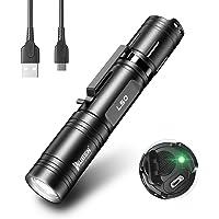 WUBEN L50 Linterna Led 1200 Lumens USB Recargable Alta Potencia Impermeable con Función de Memoria,5 Modos Linternas…
