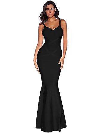 cb5197cb831 Meilun Womens Sleeveless Maxi Bandage Dress Strap Swing Dress X-Small Black