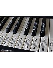 Pegatinas para pianos o teclados, juego de hasta 88 pegatinas para teclas, para teclas