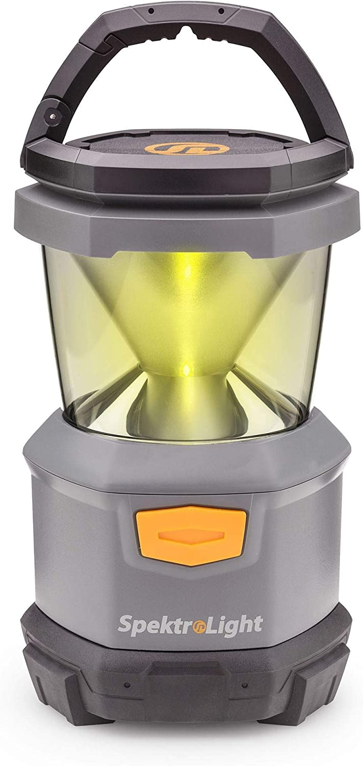 Spektrolight 400 Lumen Battery Lantern with Nightlight, 4 D Batteries, Camp Lantern, Emergency Lantern