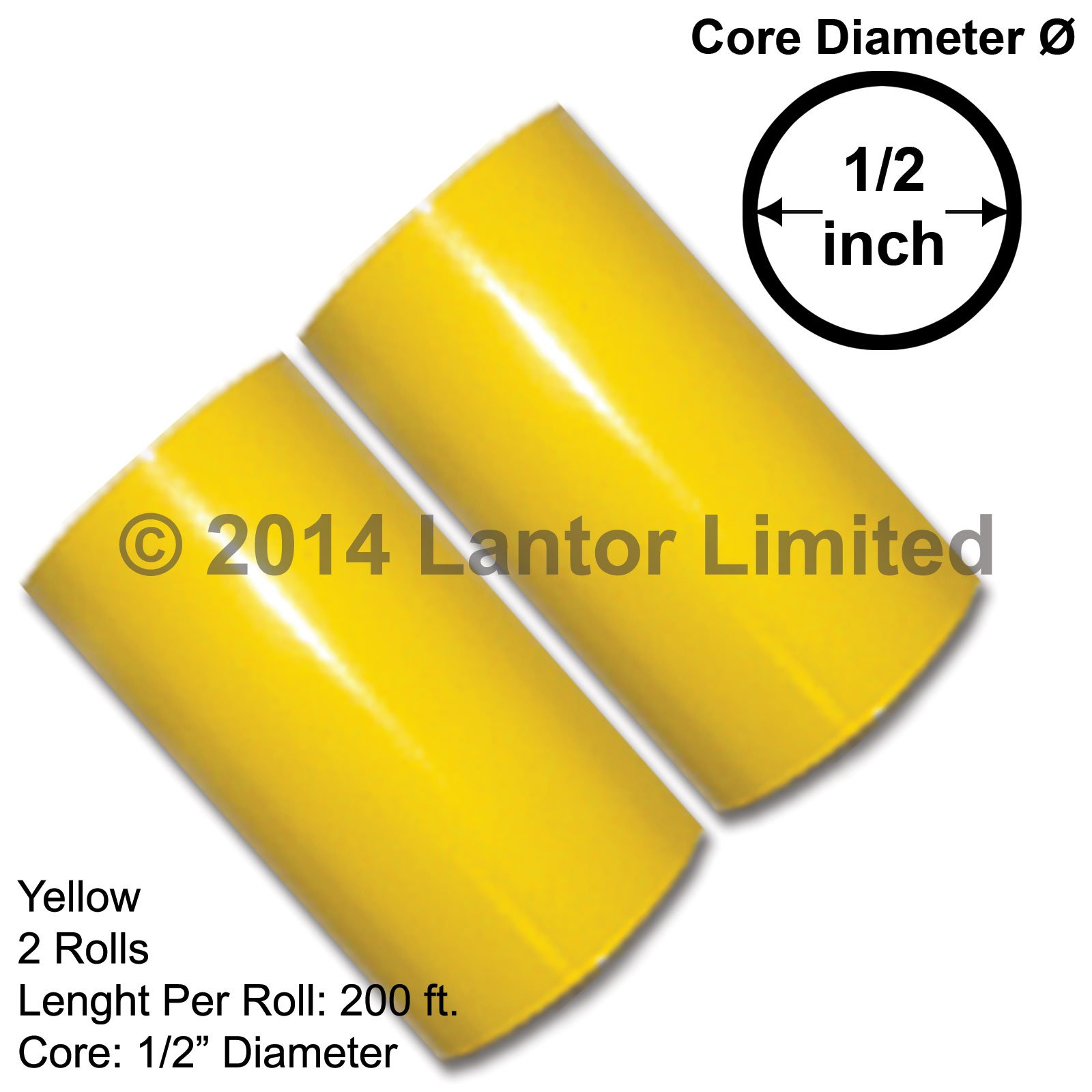 3 in 400 Ft Hot Foil Stamp 2 x 200 Ft Rolls Yellow KINGSLEY HOWARD