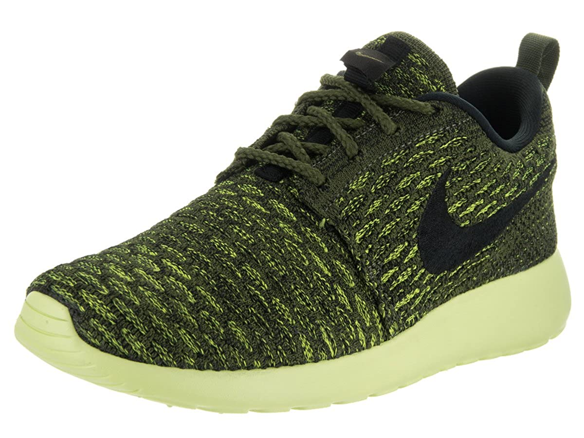 sale retailer e8da4 2d876 Nike Women s Roshe One Flyknit Rough Green Blck VLT Lt Lqd Lm Running Shoe  5. 5 Women US  Amazon.in  Shoes   Handbags