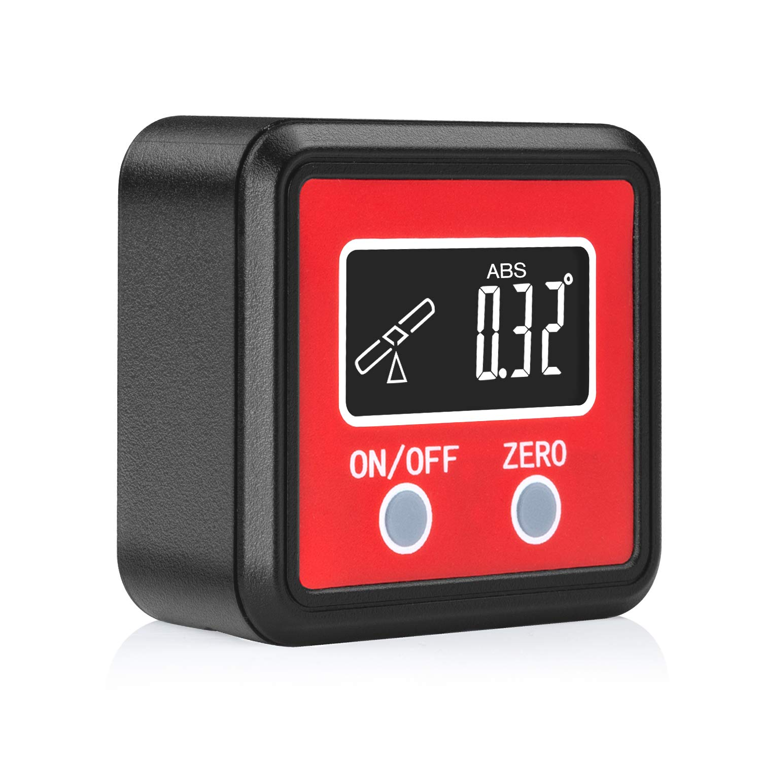 Joypea Magnetic Digital Angle Finder,Level Digital Angle Gauge,IP42 Dust and Waterproof Digital Inclinometer,Calculating for Carpentry,Building,Masonry-Red