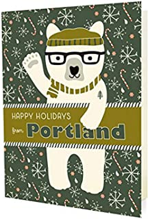product image for Night Owl Paper Goods Polar Portland Holiday Cards (10 Pack)