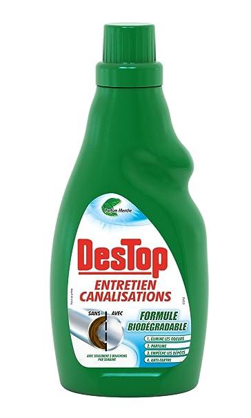 Destop Entretien Canalisations Gel Organique Menthe Eucalyptus 750