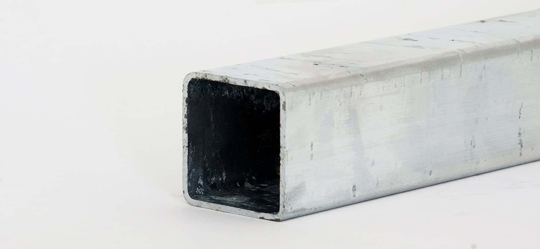 Verzinkt Quadratrohr Stahlrohr Hohlprofil Vierkantrohr 1250mm L/änge 30x30x3mm