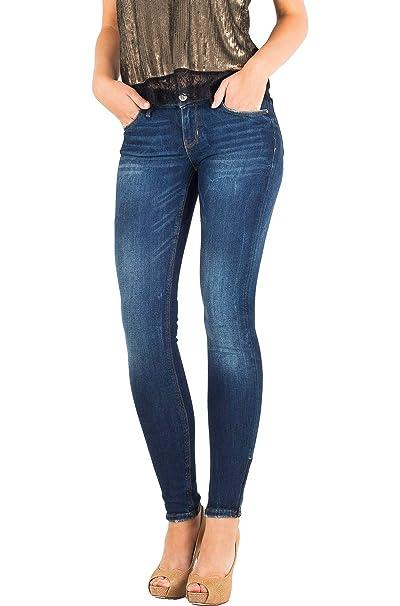 GUESS Jeans Vaqueros Mujer Ajustados Skinny Marylin (Azul ...