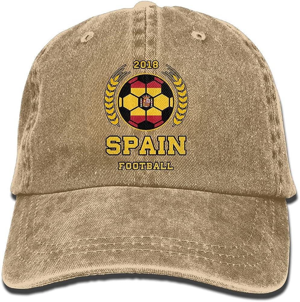 Thirteenkeke Spain Soccer Cup 2018 Russia Unisex Denim Bucket Hat Print Dad Cap