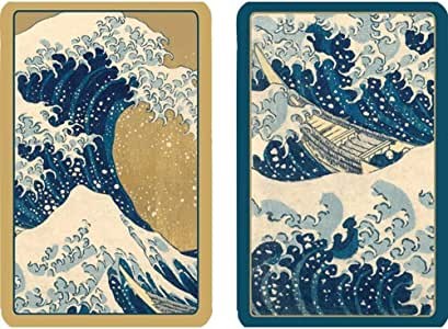 Caspari The Great Wave Large Type Playing Cards, 2 Decks Included