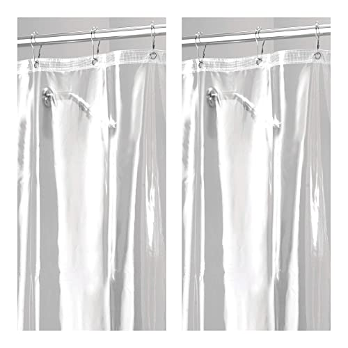 Extra Heavy Duty Weighted Vinyl Shower Curtain Amazon