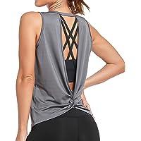 Sylanfia Yoga Camiseta sin Mangas Camisas para Mujer Deportiva Yoga Running Chaleco para Entrenamiento Fitness Tops…