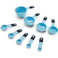 KitchenAid KE475OHAQA Classic 9-Piece Measuring Cup and Spoon Set, Aqua Sky