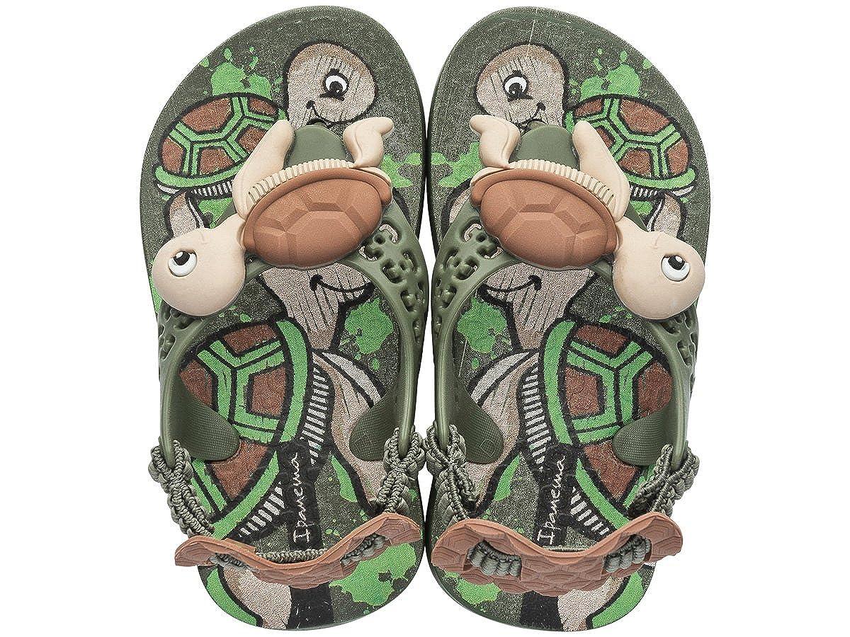 Ipanema Sea Baby Turtle Infant Sandals-Green