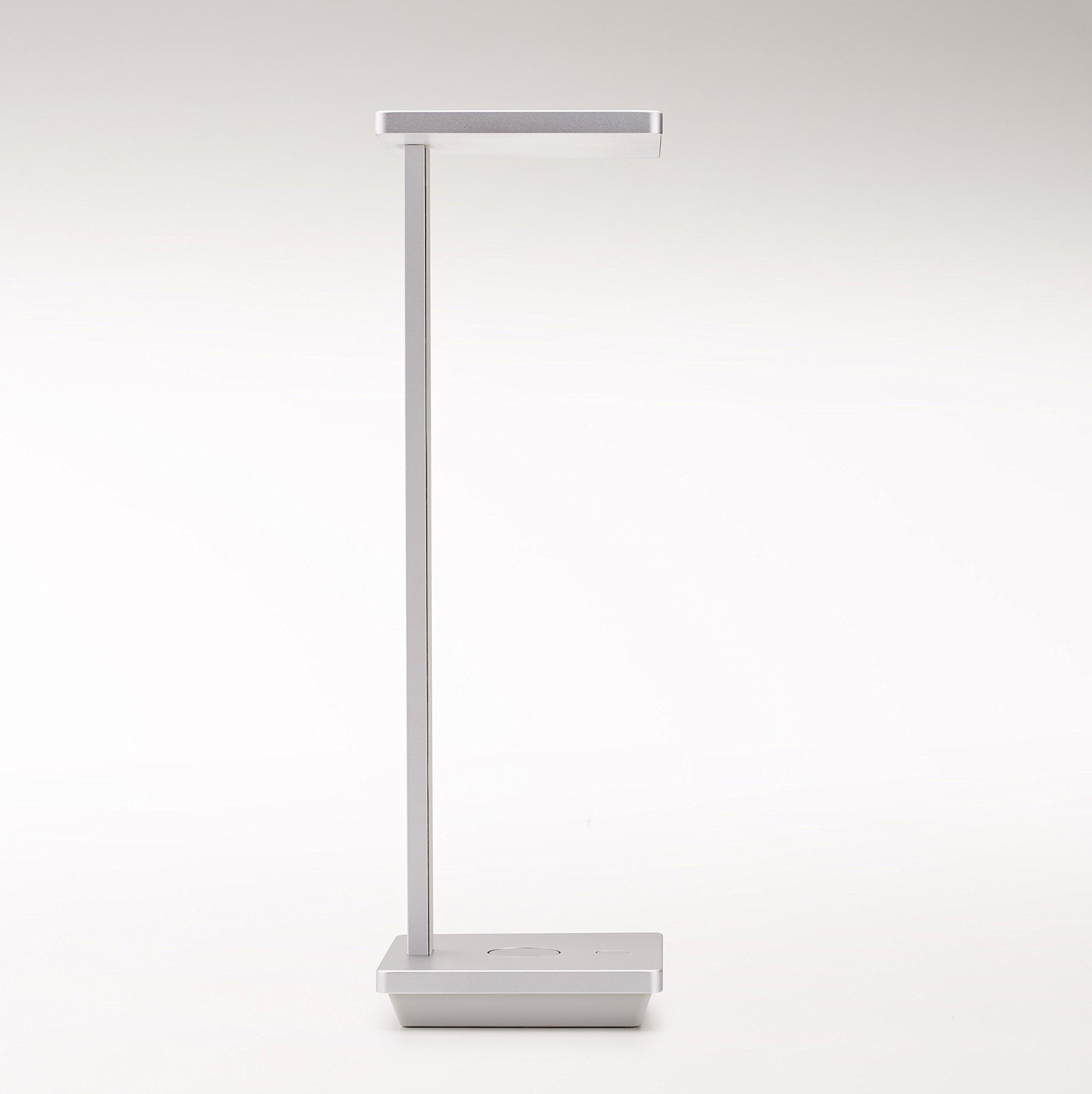 NuAns [TILE] iPhone & iPad Lightning Charging Dock, Desk Lamp with USB, Apple Certified MFi, Silver-Award Winner of iF Design Award 2016/2015 Good Design Award & Best of CES 2015|Gift & Presents