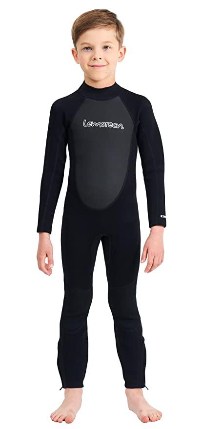 f195390693b Amazon.com: Lemorecn Kids Wetsuits Youth 3 mm Full Diving Suit: Clothing