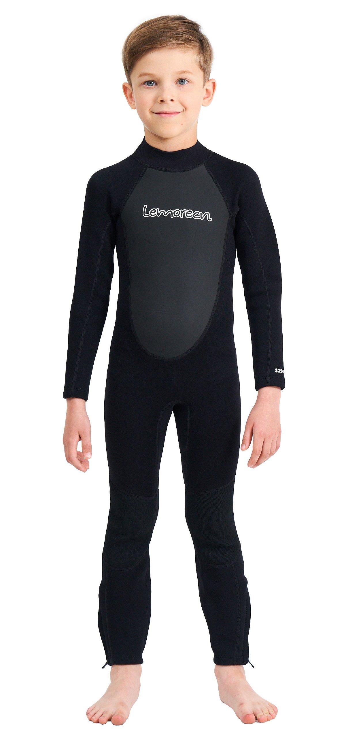 Lemorecn Wetsuits Youth 3/2 mm Full Diving Suit(4031black12)
