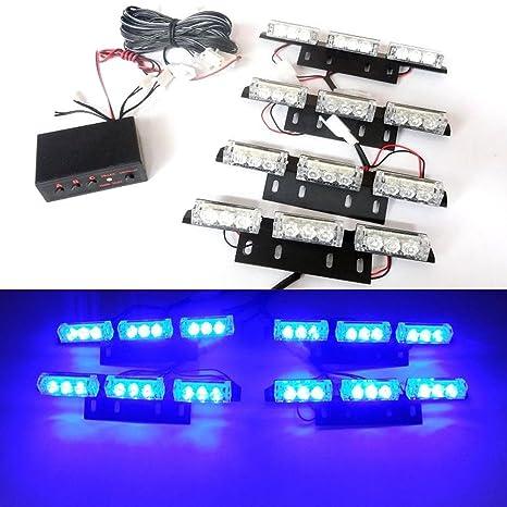 USUN 36 LED Bar Advertencia estroboscópica intermitente coche vehículo Policía alerta de emergencia iluminación de rejilla