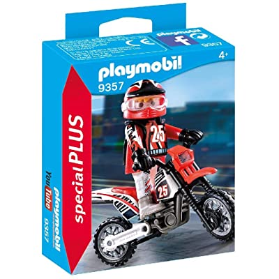 PLAYMOBIL Special Plus 9357 Motocross Driver: Toys & Games