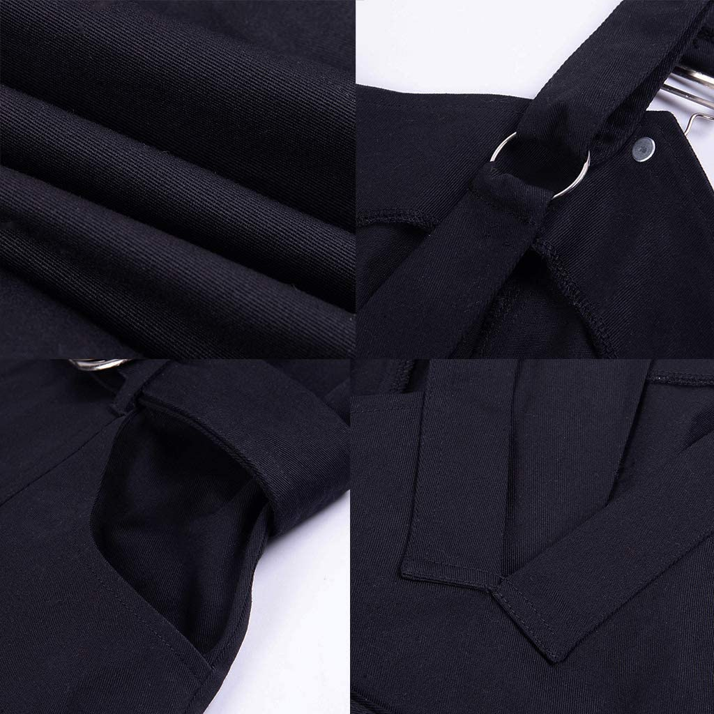 Nihsatin Womens Gothic Punk Black Dresses Sweetheart Neckline Front Zipper Corset Dress