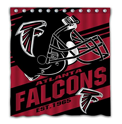 Image Unavailable Not Available For Color Potteroy Atlanta Falcons Team Stripe Design Shower Curtain